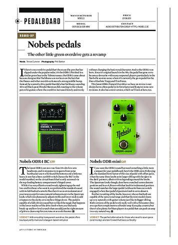 Guitarist Nobels ODR-1 BC