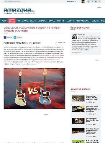 Amazona.de Vergleichstest: Fender AM Orig. 60 vs Harley Benton JA-60 VW