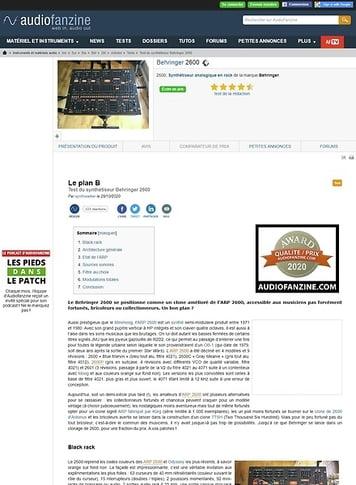 Audiofanzine.com Behringer 2600