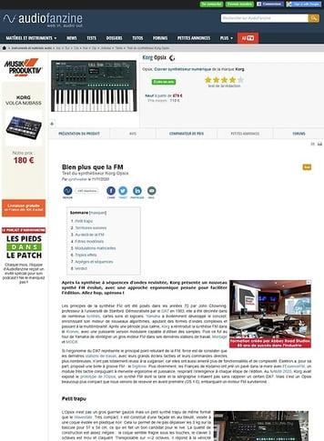 Audiofanzine.com Korg Opsix