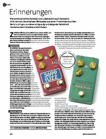 Gitarre & Bass Danelectro 3699 Fuzz & Back Talk Reverse Delay