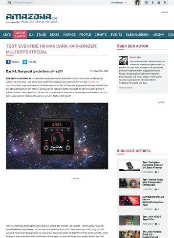 Amazona.de Eventide H9 Max Dark Harmonizer