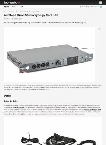 Bonedo.de Antelope Orion Studio Synergy Core