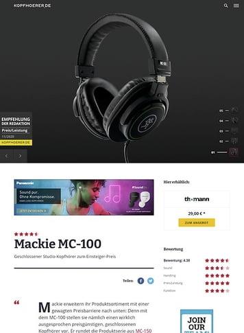 Kopfhoerer.de Mackie MC-100