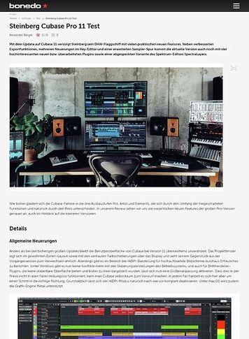 Bonedo.de Steinberg Cubase Pro 11