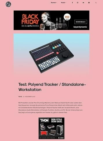 DJLAB Polyend Tracker / Standalone-Workstation