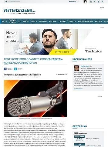 Amazona.de RODE Broadcaster