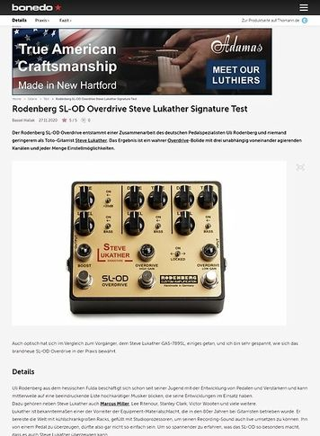 Bonedo.de Rodenberg SL-OD Overdrive Steve Lukather Signature