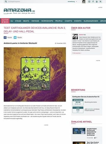 Amazona.de Earthquaker Devices Avalanche Run 2