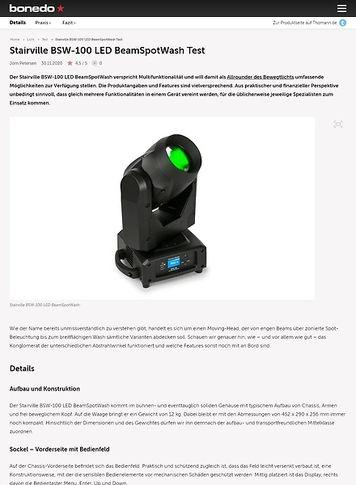 Bonedo.de Stairville BSW-100 LED BeamSpotWash