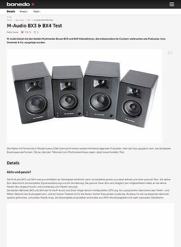 Bonedo.de M-Audio BX3 & BX4