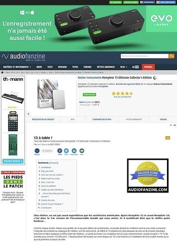 Audiofanzine.com Native Instruments Komplete 13 Ultimate Collector's Edition