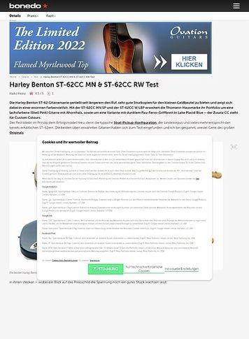 Bonedo.de Harley Benton ST-62CC MN & ST-62CC RW