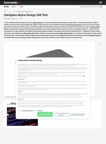 Bonedo.de Darkglass Alpha·Omega 500