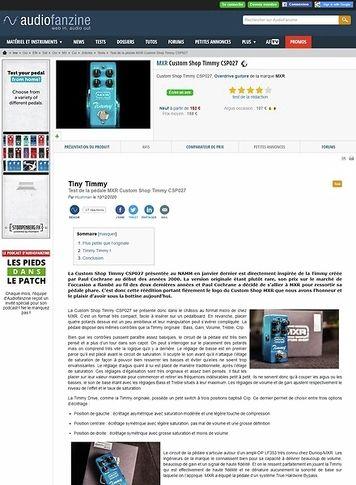 Audiofanzine.com MXR Custom Shop Timmy CSP027