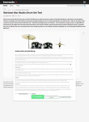 Bonedo.de Startone Star Studio Drum Set
