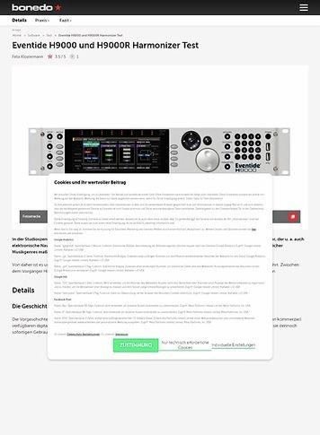 Bonedo.de Eventide H9000 und H9000R Harmonizer