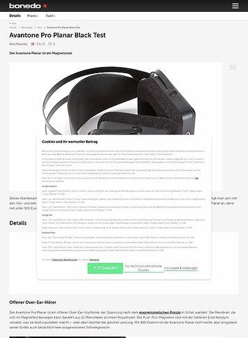Bonedo.de Avantone Pro Planar Black