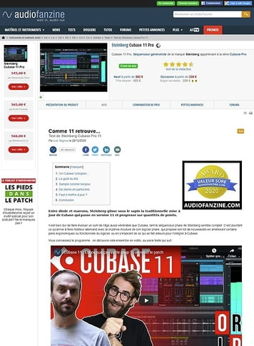 Audiofanzine.com Steinberg Cubase 11 Pro