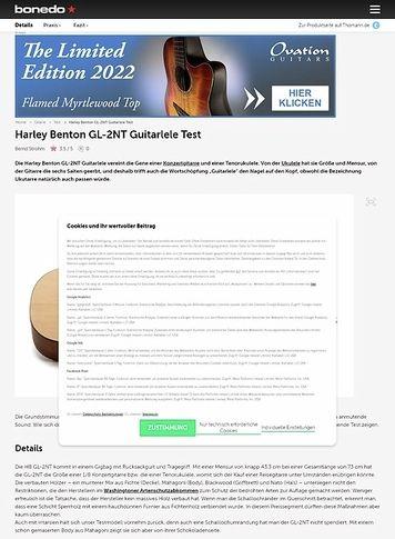 Bonedo.de Harley Benton GL-2NT Guitarlele