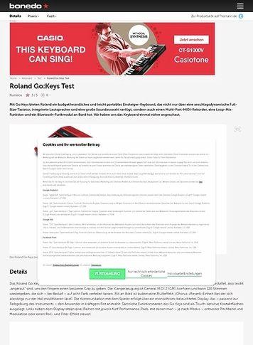 Bonedo.de Roland Go:Keys