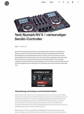 DJLAB Numark NV II / vierkanaliger Serato-Controller