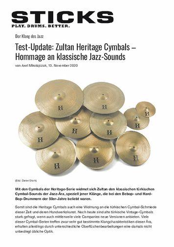 Sticks Zultan Heritage Cymbals