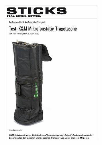 Sticks K&M Mikrofonstativ-Tragetasche