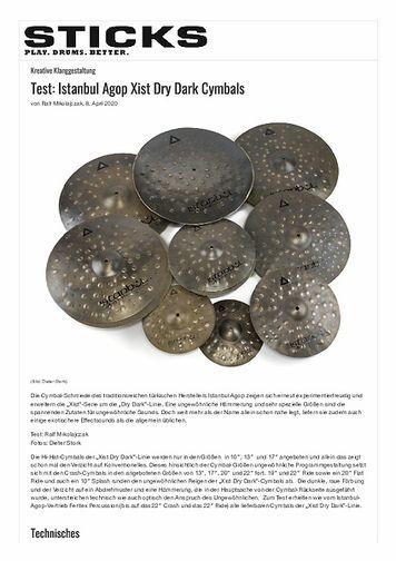 Sticks Istanbul Agop Xist Dry Dark Cymbals