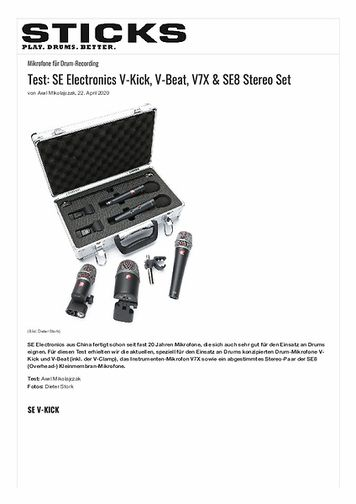 Sticks SE Electronics V-Kick, V-Beat, V7X & SE8 Stereo Set