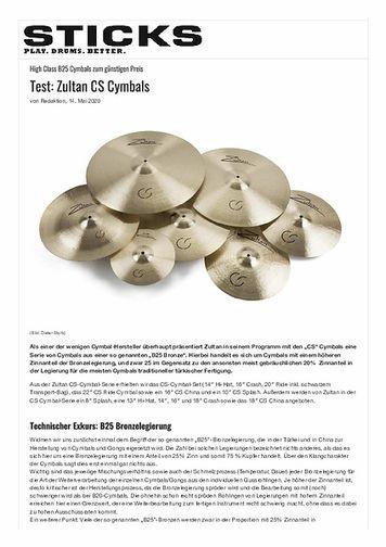 Sticks Zultan CS Cymbals
