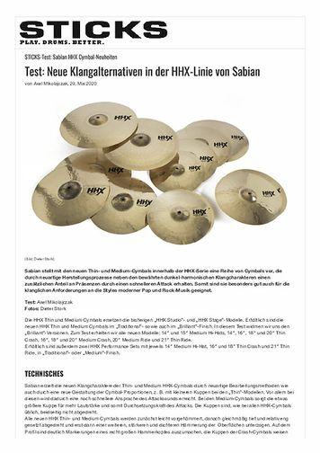 Sticks Neue Klangalternativen in der HHX-Linie von Sabian