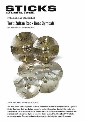 Sticks Zultan Rock Beat Cymbals