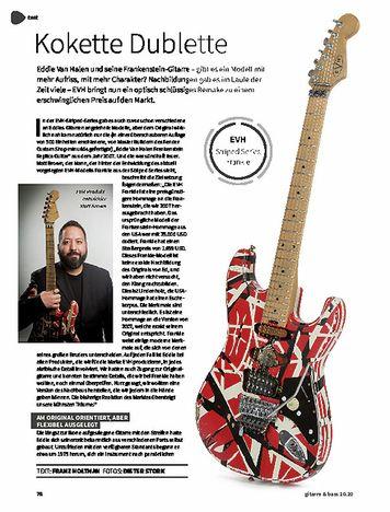 Gitarre & Bass EVH Striped Series Frankie