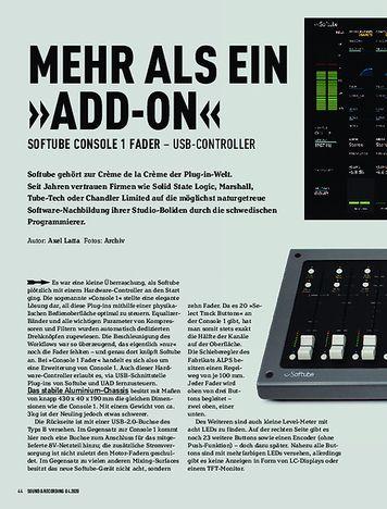 Sound & Recording Softube Console 1 Fader