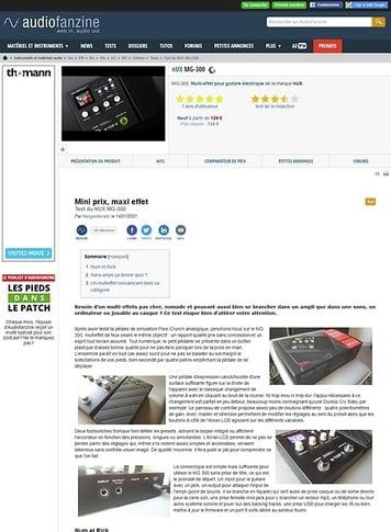 Audiofanzine.com nUX MG-300