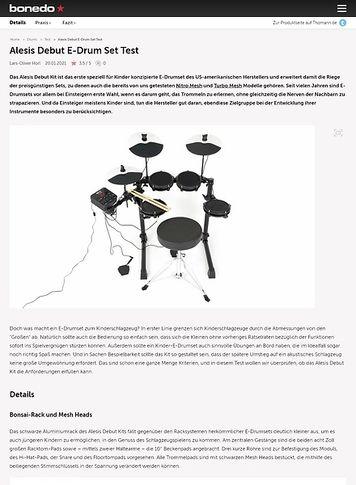 Bonedo.de Alesis Debut E-Drum Set