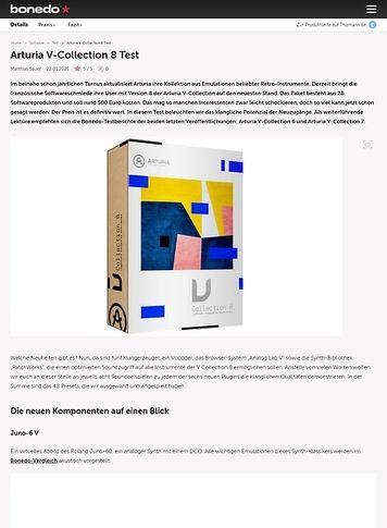 Bonedo.de Arturia V-Collection 8