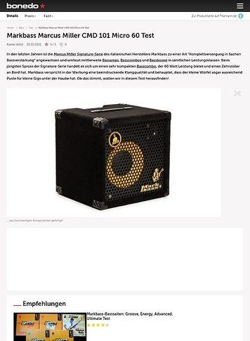 Bonedo.de Markbass Marcus Miller CMD 101 Micro 60
