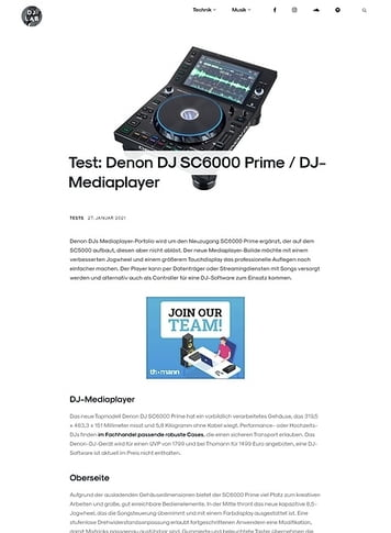 DJLAB Denon DJ SC6000 Prime