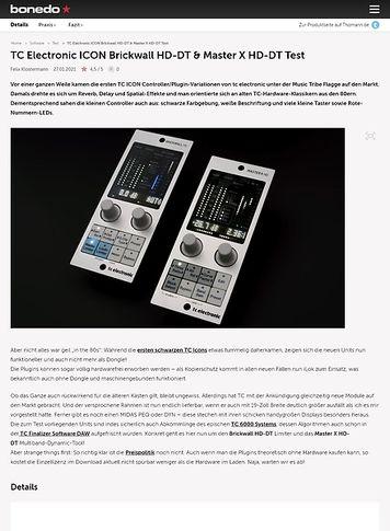 Bonedo.de TC Electronic ICON Brickwall HD-DT & Master X HD-DT