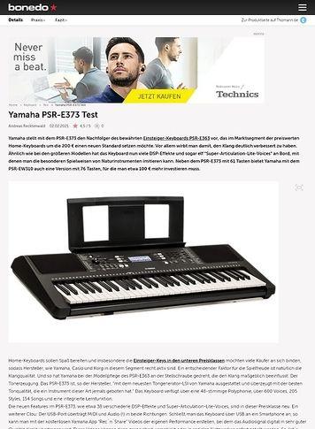 Bonedo.de Yamaha PSR-E373