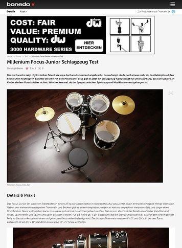 Bonedo.de Millenium Focus Junior