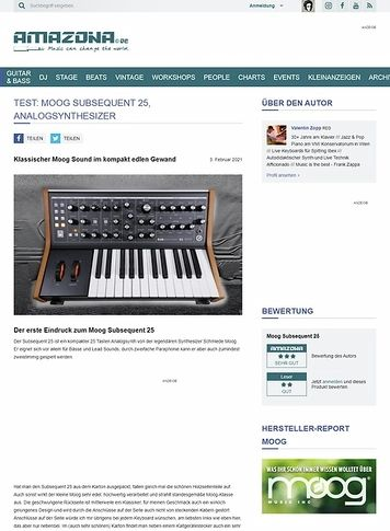 Amazona.de Moog Subsequent 25