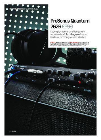 Future Music PreSonus Quantum 2626
