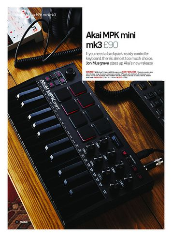 Future Music Akai MPK mini mk3