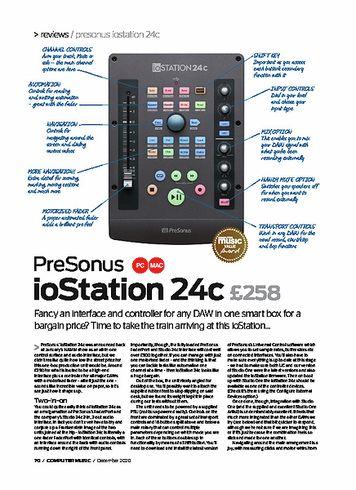 Computer Music PreSonus ioStation 24c