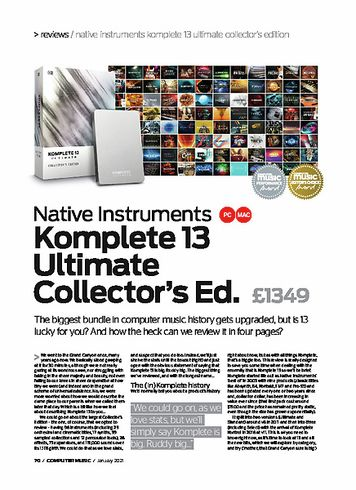 Computer Music Native Instruments Komplete 13 Ultimate Collectors Ed.
