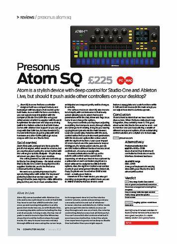 Computer Music Presonus Atom SQ