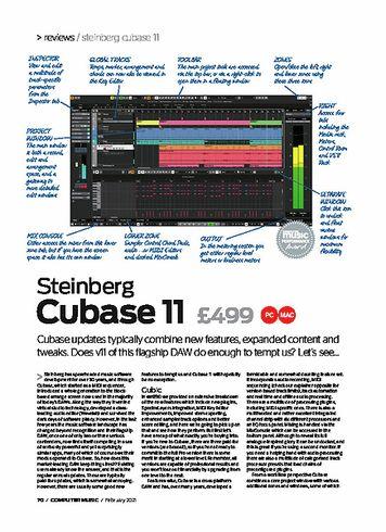 Computer Music Steinberg Cubase 11